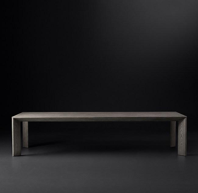 Arles Collection Brown Walnut RH Modern - Rh modern dining table