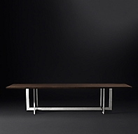 Linear Live Edge Rectangular Dining Table