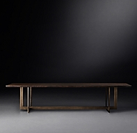 Linear Live Edge Rectangular Dining Table