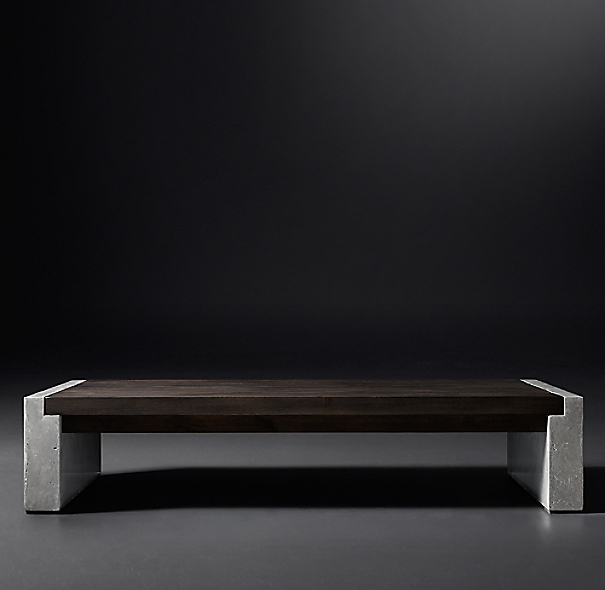 Restoration Hardware French Coffee Table: Concrete Pier Coffee Table