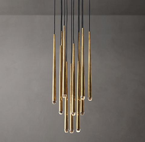 Aquitaine round chandelier collection rh modern