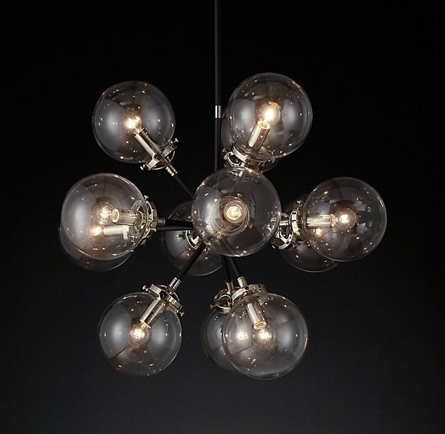 Bistro Globe Clear Glass Burst Chandelier 25 Quot