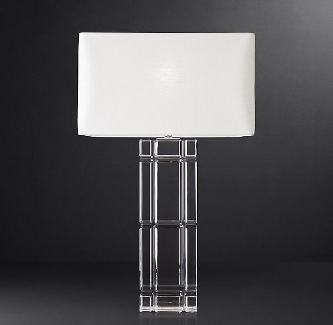Loring Table Lamp Tall, Table Lamp Square Shade