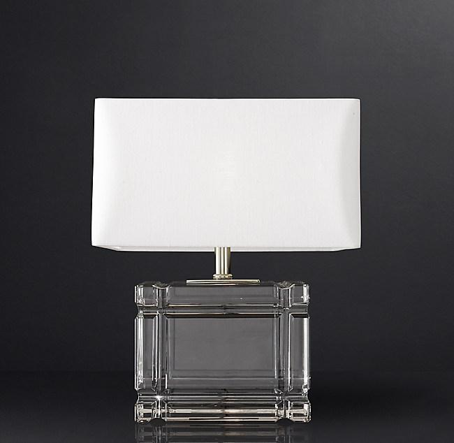Loring Table Lamp Short, Square Glass Table Lamp Base