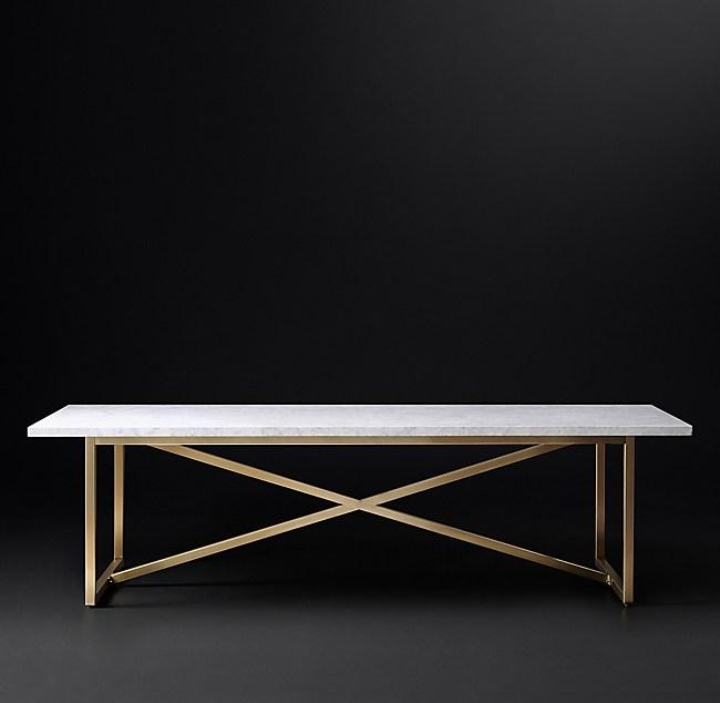 Torano Marble Rectangular Dining Table