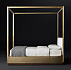 Draper Brass Canopy Bed With Headboard