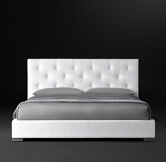 Modena Panel Diamond Tufted Fabric Platform Bed