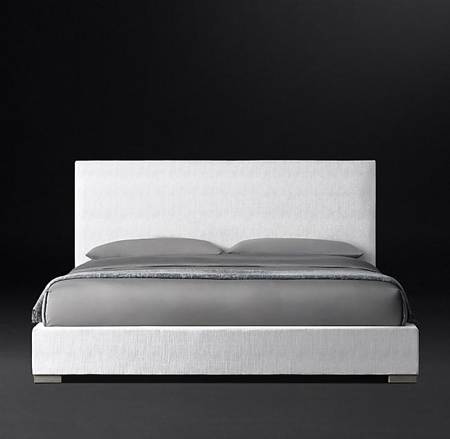 Modena Nontufted Panel Fabric Platform Bed