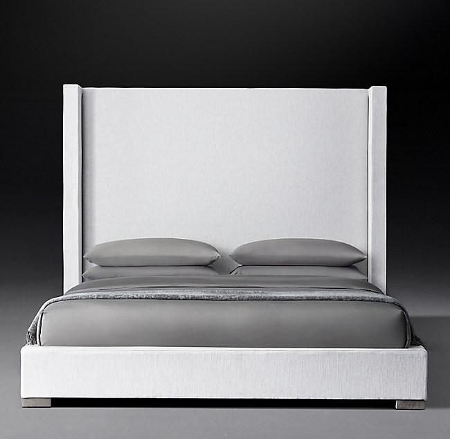 Modena Shelter Nontufted Fabric Platform Bed