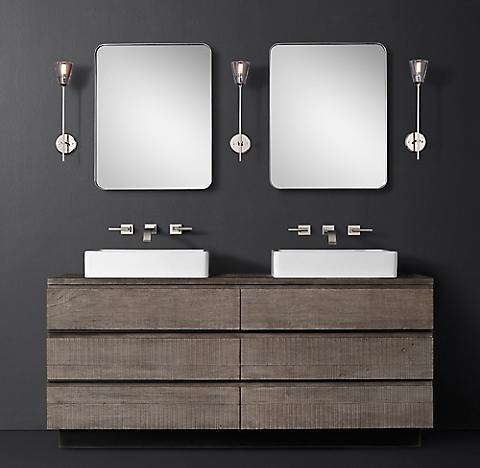 2 finishesMonterey Vessel Vanity Bath Collection   RH. Restoration Hardware Bathroom Mirrors. Home Design Ideas
