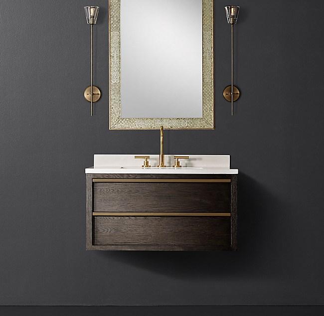 Bezier Single Floating Vanity