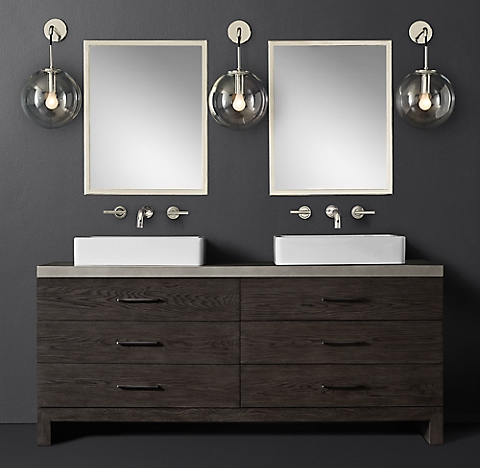 Bathroom Cabinets Modern all standing vanities | rh modern