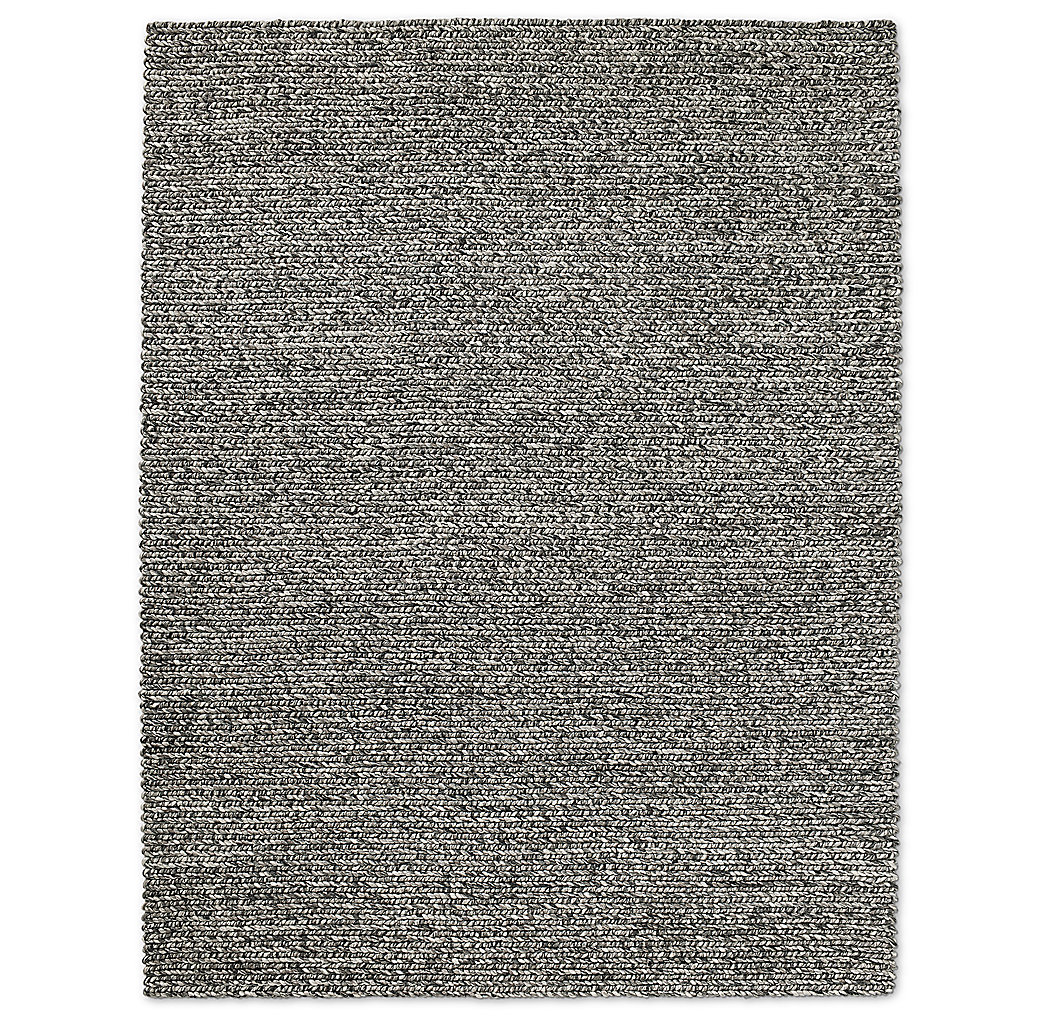 Chunky Braided Wool Rug Graphite