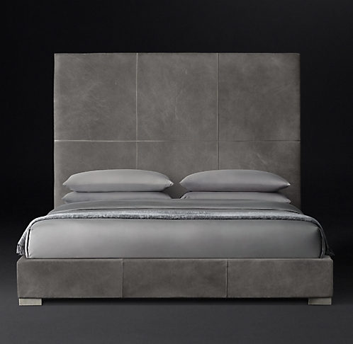 more sizes finishes headboard heights - Leather Bed