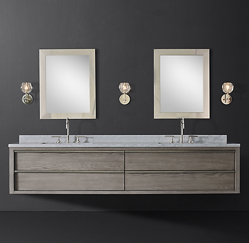 More Sizes Finishes Bezier Double Extra Wide Floating Vanity