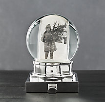 Starry Light Photo Snow Globe Stocking Holder