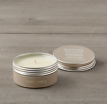 Belgian Linen Travel Candle