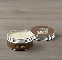 Italian Leather Travel Candle