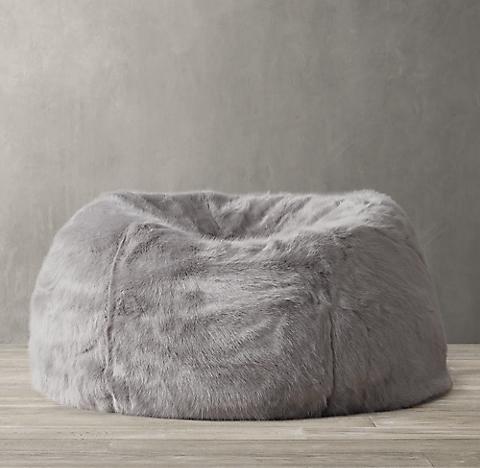Ultra Faux Fur Bean Bag