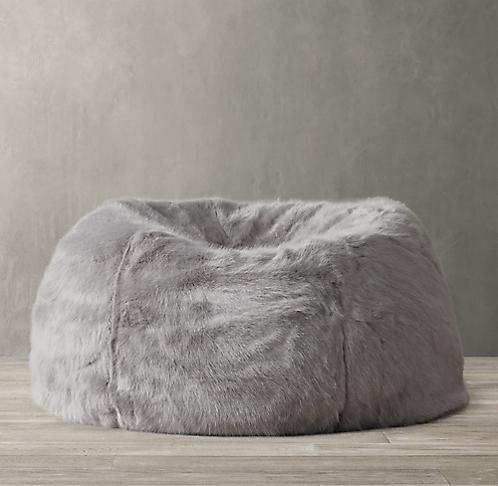 Swell Ultra Faux Fur Bean Bag Collection Rh Modern Alphanode Cool Chair Designs And Ideas Alphanodeonline