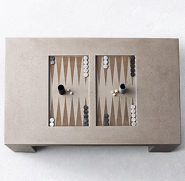 Restoration Hardware Warranty: James De Wulf Outdoor Backgammon Table