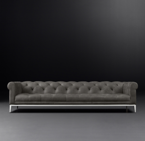 Italia Chesterfield Leather Sofa RH