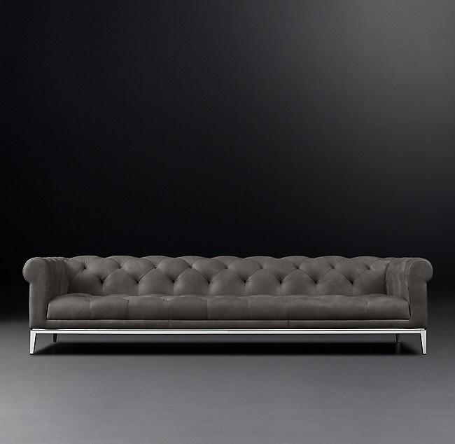 Italia Chesterfield Leather Sofa | Rh