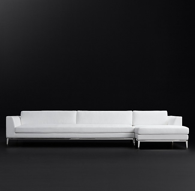 Astonishing Italia Taper Arm Right Arm Sofa Chaise Sectional With Bench Theyellowbook Wood Chair Design Ideas Theyellowbookinfo