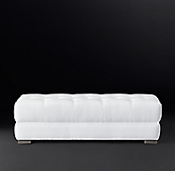 Modena Chesterfield Coffee Ottoman With Tufted Seat