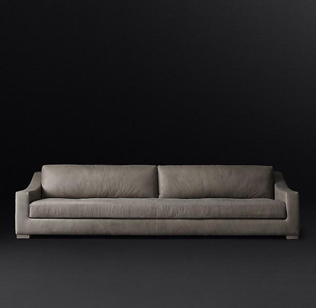 Modena Slope Arm Leather Sofa