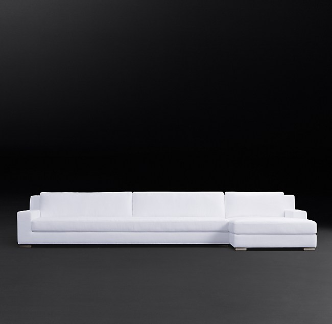 Modena Track Arm Right Arm Sofa Chaise Sectional With