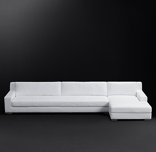 Modena Track Arm Fabric Right Arm Chaise Sectional