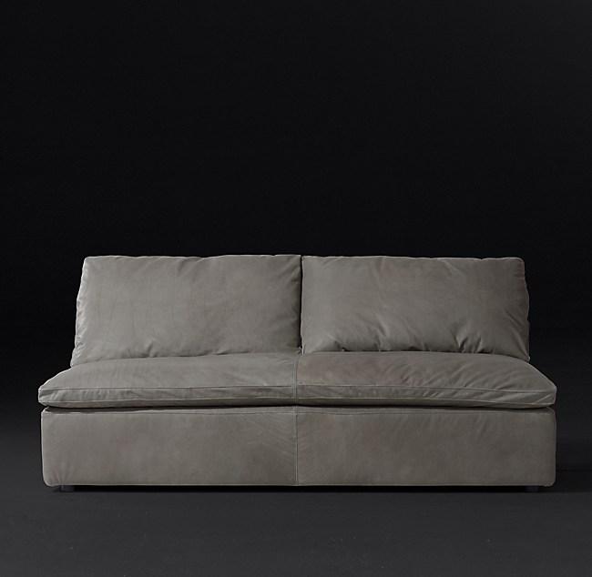 Cloud Leather Armless Sofa