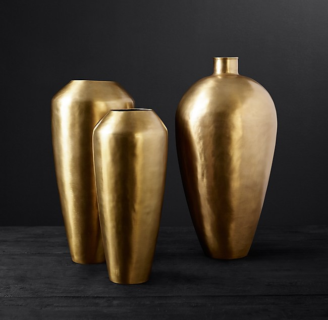 Brass Teardrop Vase Collection