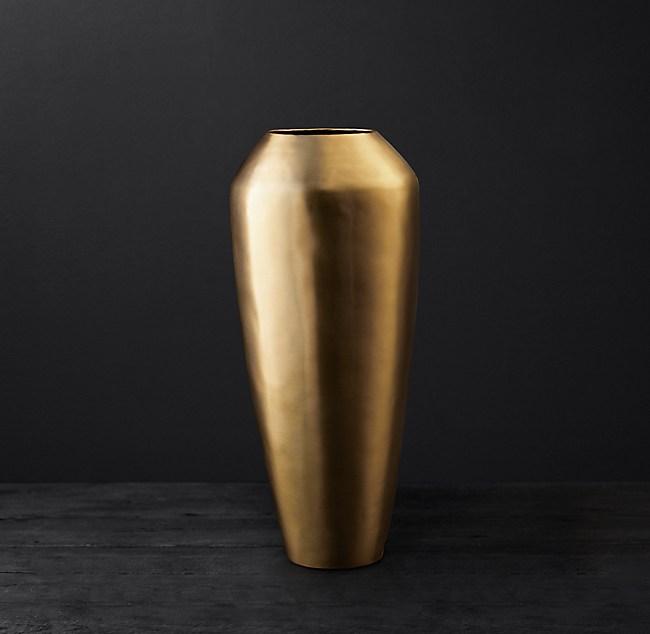 Brass Teardrop Vase Small