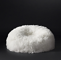 Tibetan Wool Bean Bag Ivory