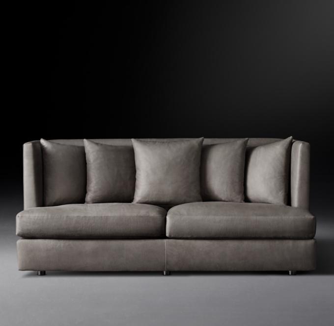 Baughman Model 1038 1970 Leather Sofa