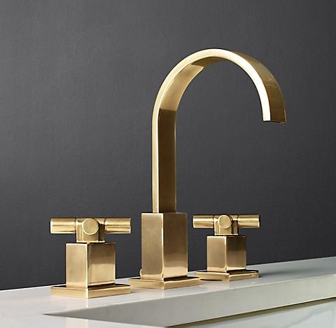 Bathroom Faucets Restoration Hardware modern cross-handle - polished nickel | rh
