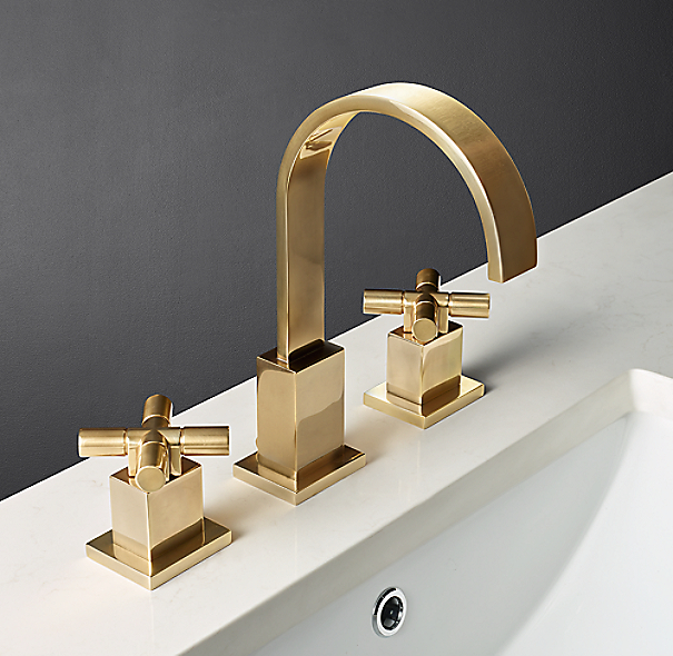 Modern 8 widespread faucet for Restoration hardware bathroom faucets