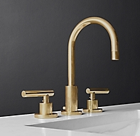 Sutton lever handle 8 widespread faucet for Restoration hardware bathroom faucets