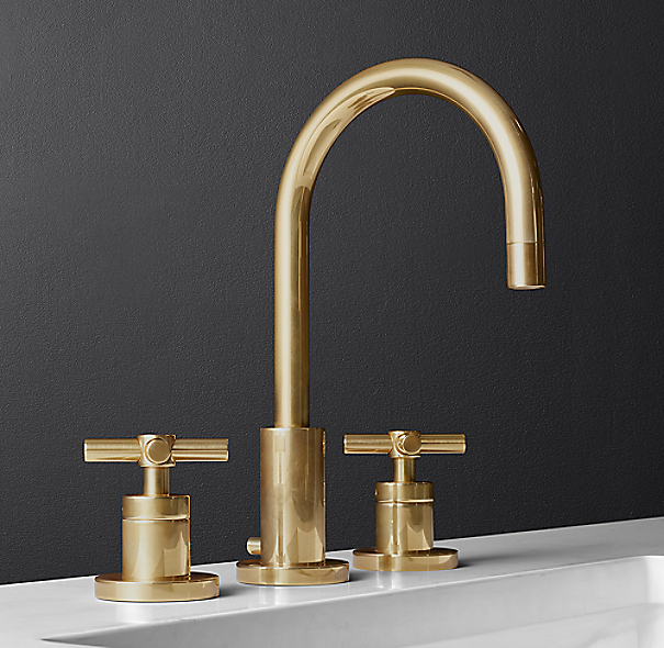 Sutton 8 widespread faucet for Restoration hardware bathroom faucets
