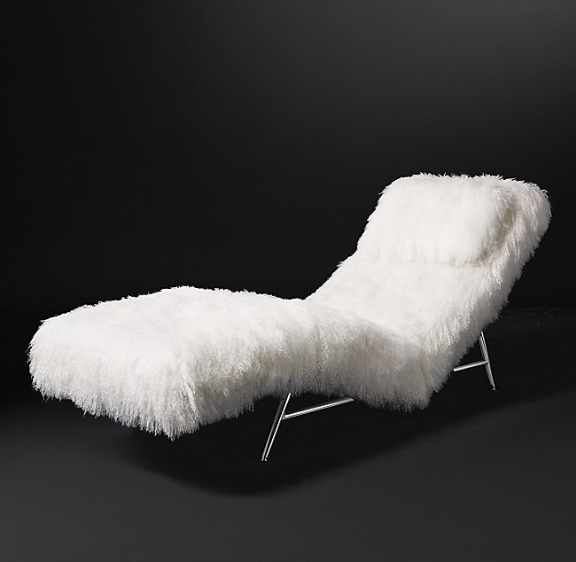 Milo Baughman Model 149 1953 Tibetan Wool Chaise