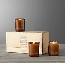 Mini Candles - Belgian Linen (set of 3)