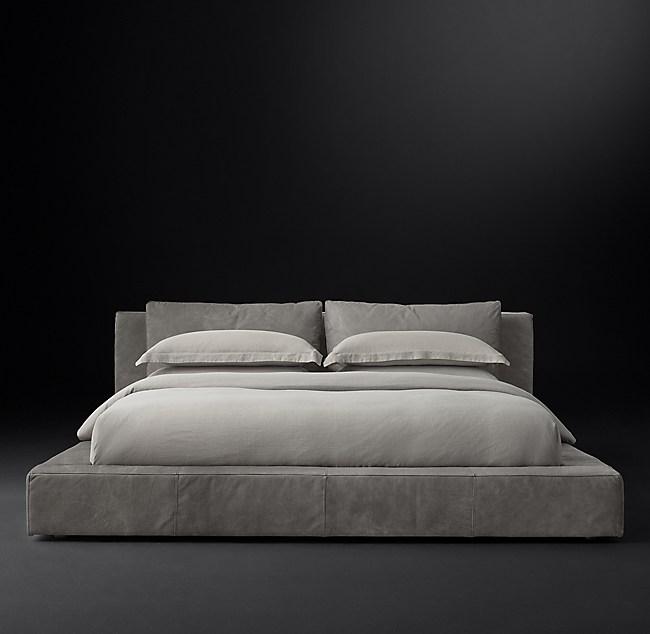 Cloud Leather Platform Bed