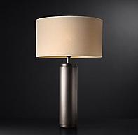 Cylindrical Column Table Lamp