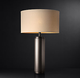 More Sizes Finishes Cylindrical Column Table Lamp