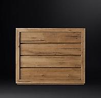 Reclaimed Russian Oak 4 Drawer Dresser