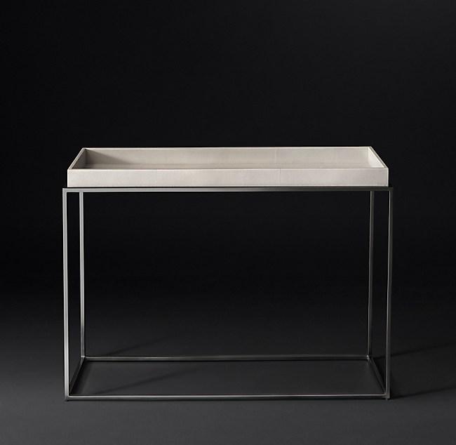 Hudson Shagreen Tray Console Table