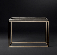 Hudson Shagreen Tray 48 Quot Console Table