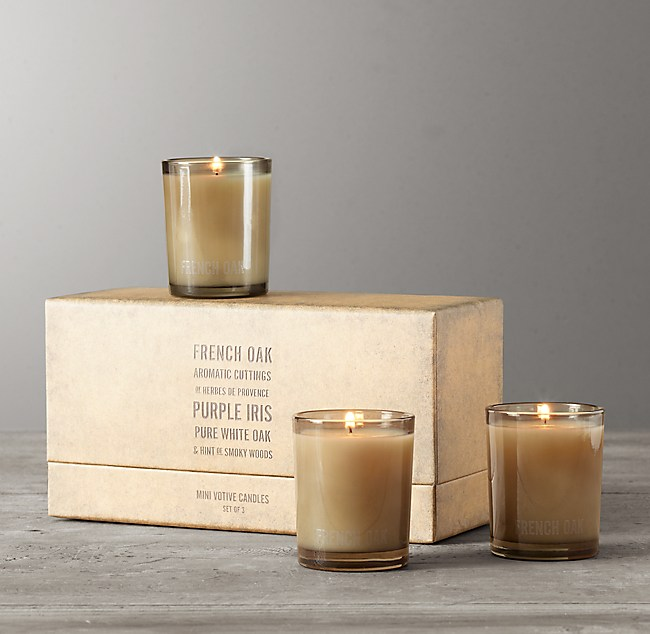 Mini Candles French Oak Set Of 3